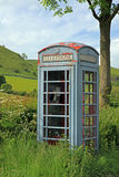 Old phone box in the Peak Districk National Park. Royalty Free Stock Photos