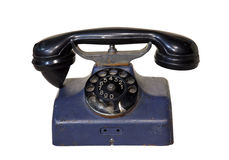 Old phone with clipping path Stock Photos
