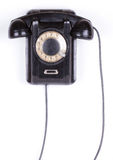 Old phone closeup isolated on white background Royalty Free Stock Photography