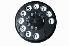 Old phone dial Stock Photos
