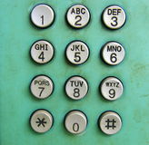 Old Phone Dial Button Stock Images