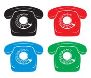 Old phone icons Stock Images