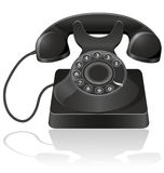 Old phone  illustration Stock Photography