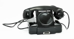 Old phone for internal communication Stock Photography