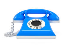 Old phone isolate on white background Royalty Free Stock Photos
