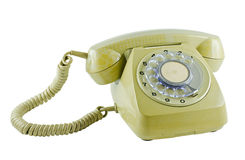 Old phone isolated Stock Images