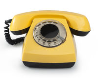 Old phone. Isolated with clipping path Stock Image