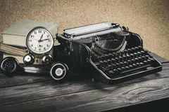 Old. Phone journalist retro news type writer Royalty Free Stock Photography