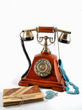Old phone with note Royalty Free Stock Photo