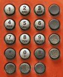 Old phone number and press tightly Royalty Free Stock Photo