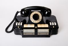 Old phone old technology Stock Image