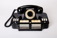 Old phone old technology. Historical telephone stock image
