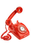 Old phone over white background Royalty Free Stock Photo