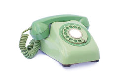 Old phone retro classic on white background Royalty Free Stock Photos