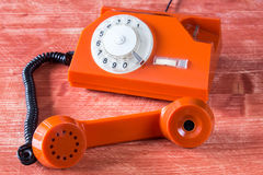 Old phone with rotary dial Stock Photography