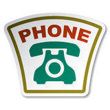 Old phone sticker Royalty Free Stock Photos