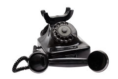 Old phone with taken off receiver Royalty Free Stock Image