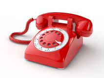 Old phone. Old telephone on white background vector illustration