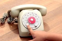 Old phone of vintage style Royalty Free Stock Images
