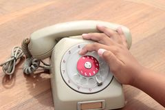 Old phone of vintage style Stock Photography