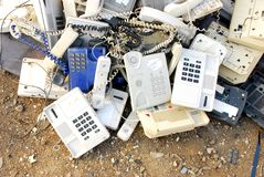 Old phones Stock Photo