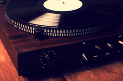 Old phonograph and gramophone records Stock Photography