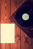 Old phonograph and gramophone records Stock Images