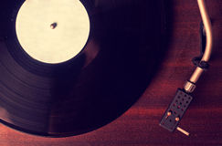 Old phonograph and gramophone records Royalty Free Stock Images