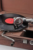 Old phonograph and vinyl record Stock Photography