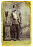 Old Photo - 1. Ancient photo of the soldier of imperial Russian army, 1905 Royalty Free Stock Image