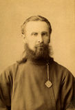 Old photo. A vintage photo portrait from 1915 of Russian man Stock Photography