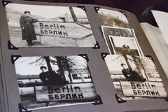 Old photo album Berlin in 1945 Royalty Free Stock Photo