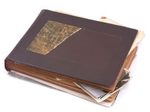 Old photo album with photos Royalty Free Stock Photography