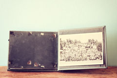 Old photo album. vintage filter Royalty Free Stock Image
