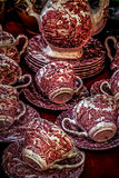 Old photo with ancient pottery royalty free stock images