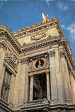 Old photo with architectural details of Opera National de Paris Royalty Free Stock Photos