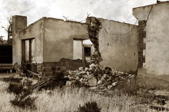 Old photo of building ruins Royalty Free Stock Image