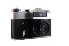 Old photo camera. Oldstyle photo camera on the white background Royalty Free Stock Image