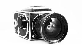 Old photo camera. Old Kiev 88 with world 26 V Royalty Free Stock Image