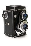 Old photo camera. This is an old photo camera Royalty Free Stock Images