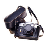 Old photo camera. Royalty Free Stock Images