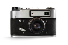Old Photo Camera (35 Mm) Royalty Free Stock Images