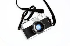 Old photo Camera. Old russian foto camera, with white background Stock Photography