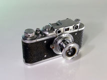 Old photo camera. Of my grandfather bought in the thirties years of the twentieth century Royalty Free Stock Image