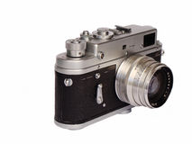 Old photo camera Stock Images