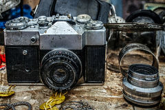 Old photo camera 10 Stock Images