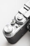 Old photo camera close-up detail Royalty Free Stock Image