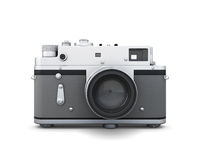 Old photo camera front view Stock Photography