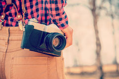 Old photo camera Stock Photography
