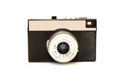Old photo camera isolated over a white background Stock Photos